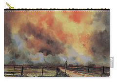Carry-all Pouch featuring the painting Northwest Oklahoma Wildfire by Sam Sidders