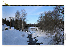 Norwegian Winter Landscape.  Carry-all Pouch