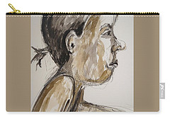 Carry-all Pouch featuring the painting Nose Job Nose by Esther Newman-Cohen