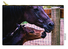 Carry-all Pouch featuring the photograph Nose To Nose by Bryan Carter