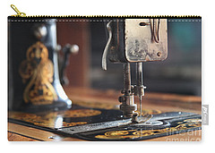 Carry-all Pouch featuring the photograph Nostalgia ...vintage Neva Treadle Sewing Machine  by Lynn England