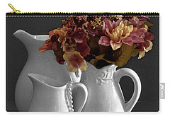 Carry-all Pouch featuring the photograph Not All Is Black And White by Sherry Hallemeier