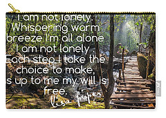 Not Alone Carry-all Pouch by Lisa Piper