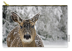 Carry-all Pouch featuring the photograph Not Happy - 365-279 by Inge Riis McDonald