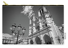 Notre Dame Black And White Carry-all Pouch