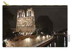 Notre Dame Cathedral From Petit Pont Carry-all Pouch by Christopher Kirby