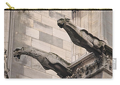 Notre Dame Cathedral Gargoyles Carry-all Pouch by Christopher Kirby
