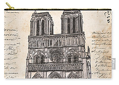 Notre Dame De Paris Carry-all Pouch by Debbie DeWitt