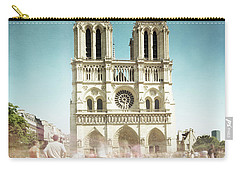 Carry-all Pouch featuring the photograph Notre Dame by Hannes Cmarits
