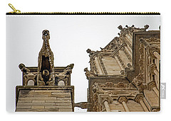 Carry-all Pouch featuring the photograph Notre Dame In The Rain by Jean Haynes