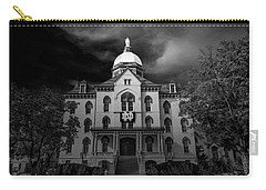 Notre Dame University Black White 3a Carry-all Pouch by David Haskett