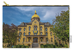 Notre Dame University Golden Dome Carry-all Pouch by David Haskett