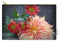 November  Flowers - Still Life Carry-all Pouch by Dora Sofia Caputo Photographic Art and Design