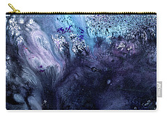 November Rain - Contemporary Blue Abstract Painting Carry-all Pouch