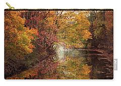 Carry-all Pouch featuring the photograph November Reflections by Jessica Jenney