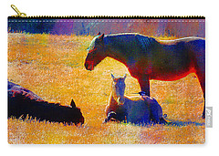 Carry-all Pouch featuring the photograph November Slumber With Magpie Chatter by Anastasia Savage Ealy