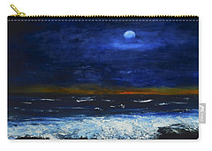 November Sunset At The Beach Carry-all Pouch