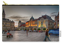 Novi Sad Liberty Square At Twilight Carry-all Pouch by Jivko Nakev