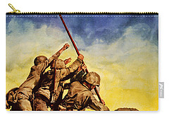 Now All Together Vintage War Poster Restored Carry-all Pouch