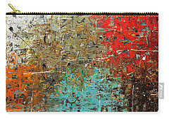 Carry-all Pouch featuring the painting Now Or Never by Carmen Guedez