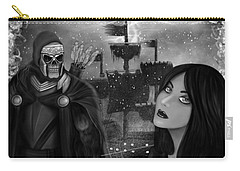 Now Or Never - Black And White Fantasy Art Carry-all Pouch