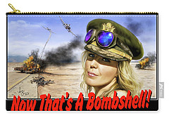 Carry-all Pouch featuring the photograph Now Thats A Bombshell by Don Olea