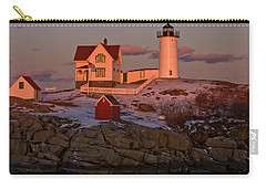 Nubble Light At Sunset Carry-all Pouch