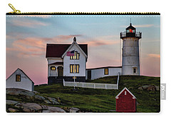 Nubble Lighthouse At Dusk  Carry-all Pouch