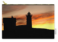 Nubble Lighthouse Silhouette Carry-all Pouch