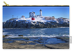 Nubble Lighthouse -winter 2015 Carry-all Pouch