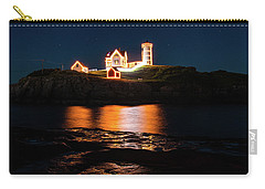 Carry-all Pouch featuring the photograph nubble Lighthouse, York Maine by Jeff Folger