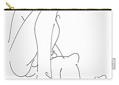 Nude-male-drawing-12 Carry-all Pouch