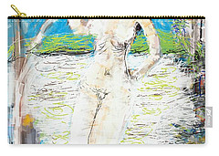Nude With Bird Carry-all Pouch