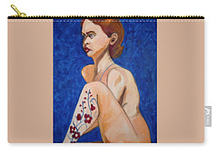 Nude With Flower Tatoo Carry-all Pouch