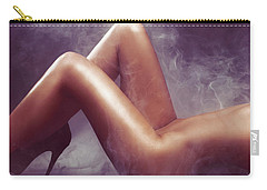 Nude Woman Body In Clouds Of Smoke Carry-all Pouch