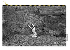 Nude Woman Pulling Shape By Rocks Carry-all Pouch