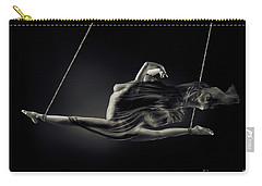 Nude Woman Swinging In Splits In The Air With Bondage Rope And F Carry-all Pouch