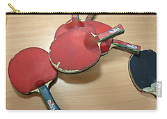 Number Of Ping Pong Bats Piled On A Table Carry-all Pouch by Ashish Agarwal