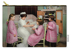 Carry-all Pouch featuring the photograph Nurse - Playing Nurse 1918 by Mike Savad