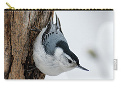Nuthatch And Spring Snow - D010349 Carry-all Pouch