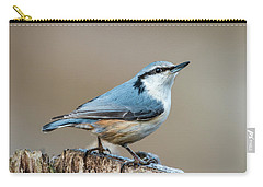 Nuthatch's Pose Carry-all Pouch by Torbjorn Swenelius