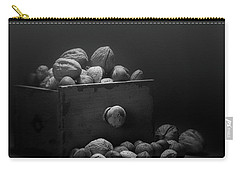 Carry-all Pouch featuring the photograph Nuts In Black And White by Tom Mc Nemar