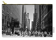 Nyc 42nd Street Crosswalk Carry-all Pouch by Matt Harang