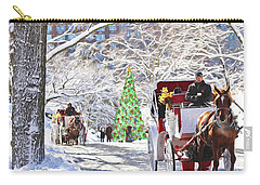 Festive Winter Carriage Rides Carry-all Pouch