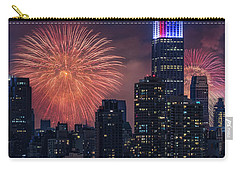 Carry-all Pouch featuring the photograph Nyc Fourth Of July Fireworks  by Susan Candelario