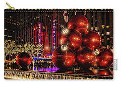 Carry-all Pouch featuring the photograph Nyc Holiday Balls by Chris Lord