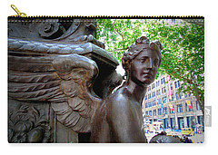 Nyc Library Angel Carry-all Pouch by Susan Lafleur