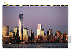 Nyc Skyline At Dusk Carry-all Pouch by Matt Harang