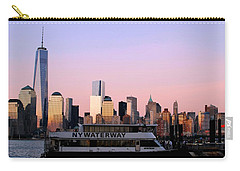 Nyc Skyline With Boat At Pier Carry-all Pouch by Matt Harang