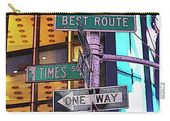 Nyc Street Sign Carry-all Pouch